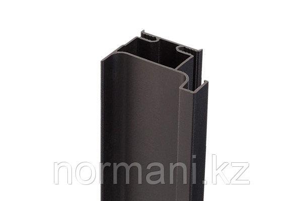 Gola Профиль вертикальный боковой, для 16мм ДСП, L=4500мм отделка черная