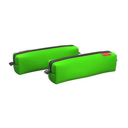 Пенал квадро mini ErichKrause® 210x50x50мм Neon® Green, фото 2