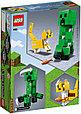 "21156 Lego Minecraft Большие фигурки ""Крипер и Оцелот"", Лего Майнкрафт, фото 2"