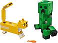 "21156 Lego Minecraft Большие фигурки ""Крипер и Оцелот"", Лего Майнкрафт, фото 3"