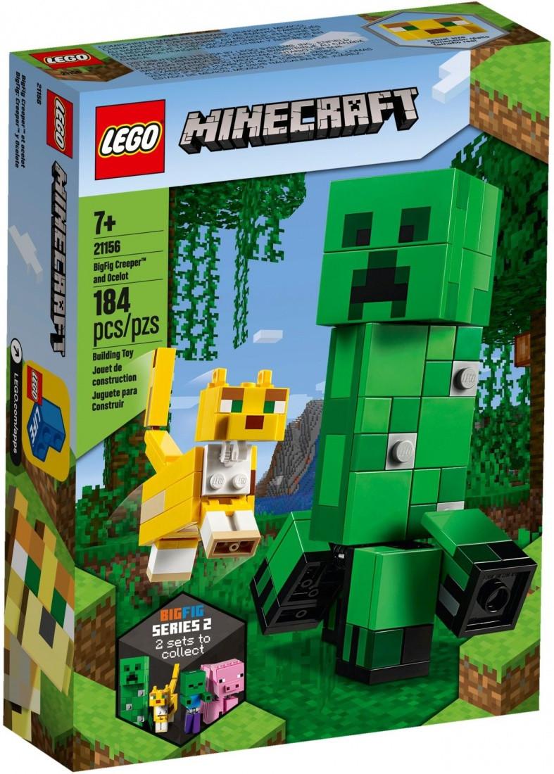 "21156 Lego Minecraft Большие фигурки ""Крипер и Оцелот"", Лего Майнкрафт"