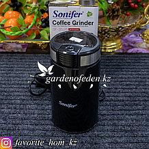 """Кофемолка """"Sonifer SF-3526"""". Материал: Металл/Пластик. Цвет: Черный. Вместимость: 50г. Мощность: 200Вт."""
