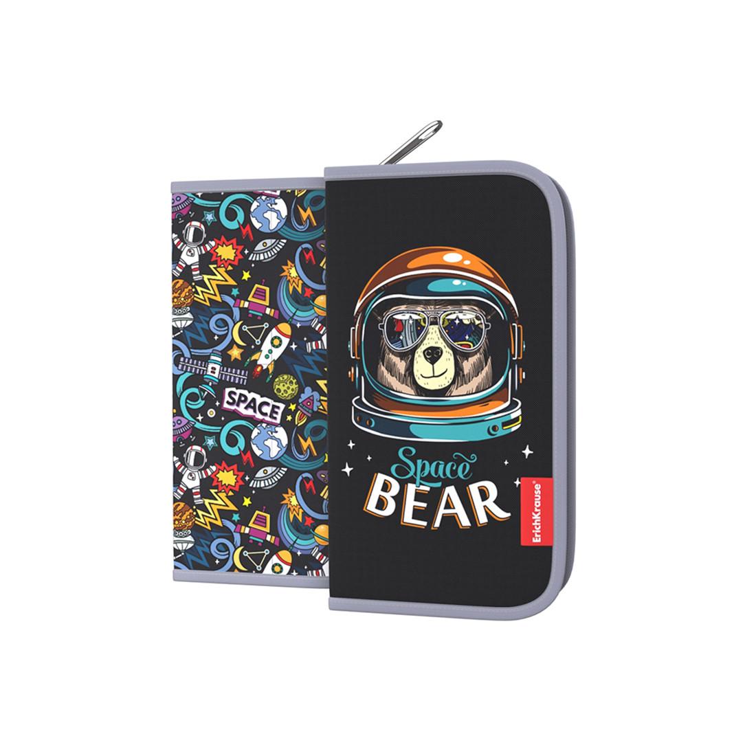 Пенал-книжка без наполнения ErichKrause® 110x205x25мм Space Bear