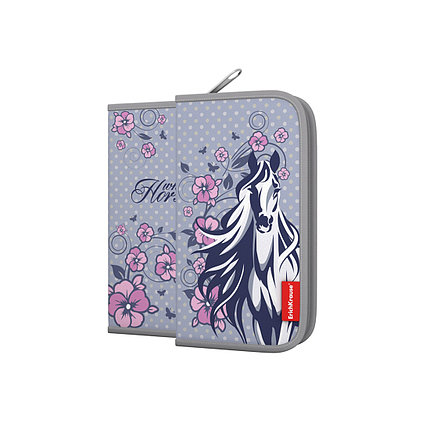 Пенал-книжка без наполнения ErichKrause® 110x205x25мм White Horse, фото 2