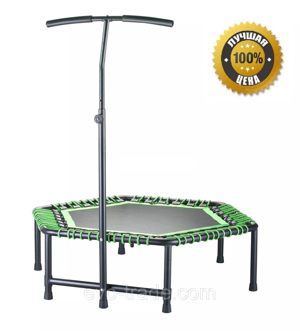 Фитнес батут Get Jump Green с нагрузкой до 120 кг