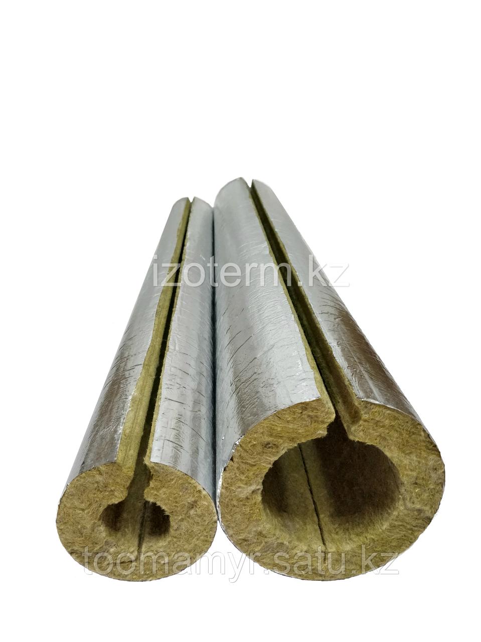 Цилиндры и полуцилиндры IZOTERM с покрытием не армированной  алюминиевой фольгой