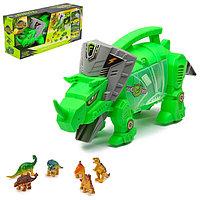 Набор игровой «Динозавр», 4 машины и фигурки