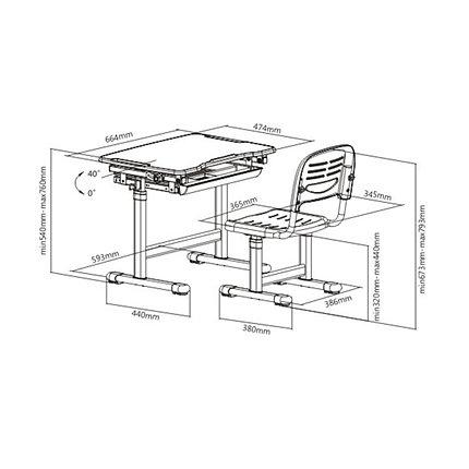 Парта-трансформер Deluxe DLCD-B201B, фото 2