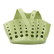 Органайзер для кухни и ванной на кнопке зеленый, фото 3