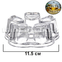 Подставка для подогрева чайника сердечки стеклянная под свечу (d 11,5 см)