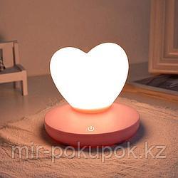 """Силиконовый LED светильник-ночник """"Сердце"""""""