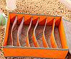 Органайзер для нижнего белья с крышкой 7 отделений оранжевый, фото 6