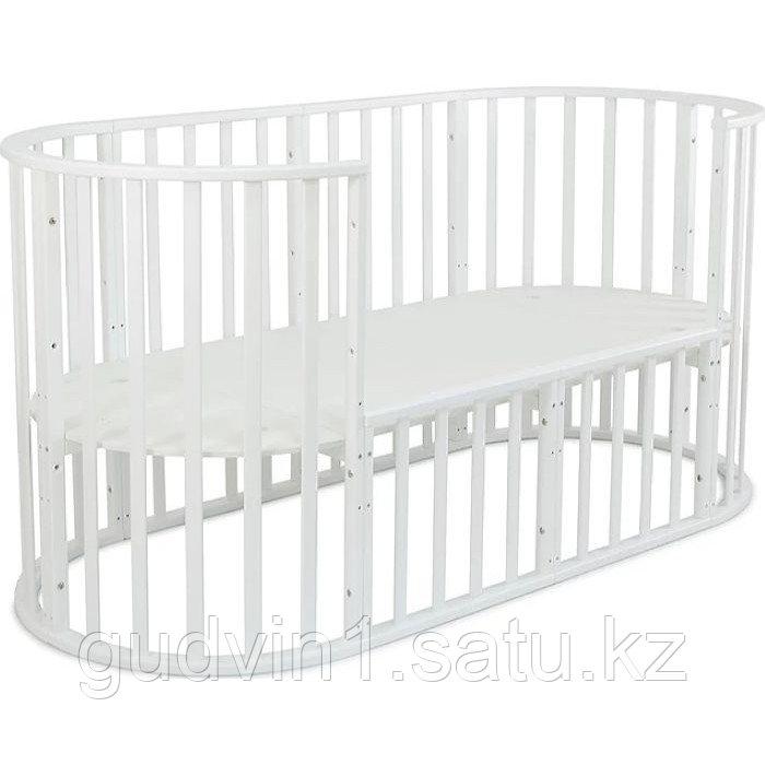 СКВ-12 детская кровать ,универсальная ,круглая 12 в 1, (белый)