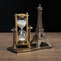 Сувенирные часы песочные Эйфелева башня на подставке
