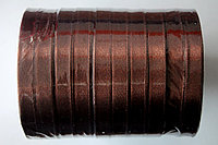 Лента атласная (коричневая 032) 10 мм. - 25 ярдов (22,8 метра)