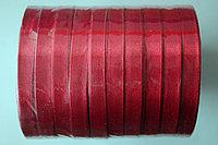 Лента атласная (бордовая 33А) 10 мм. - 25 ярдов (22,8 метра)