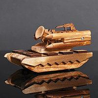 Игрушка деревянная «Танк» 11×20×10 см