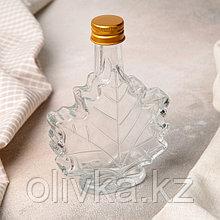 Бутылка «Клён», 100 мл, 10×3,5×14 см