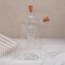 Бутыль «2 в 1» для соусов и масла «Фьюжн. Виноград», 100/350 мл, 19,5 см
