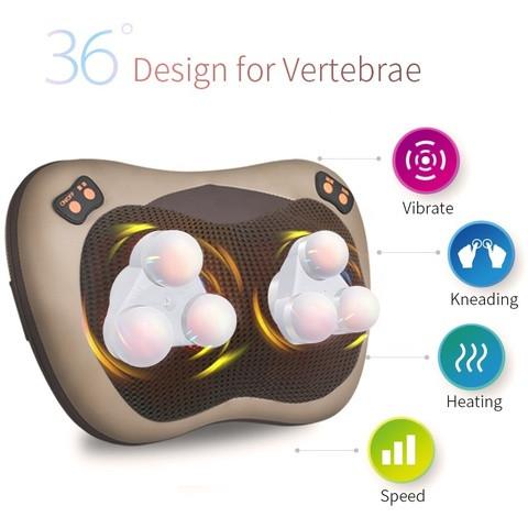 Массажная подушка многофункциональная 3D с инфракрасным излучением JINKAIRUI R6