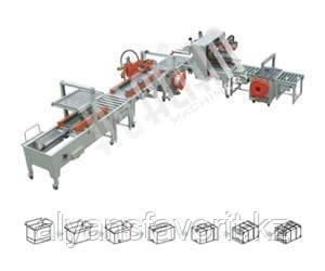 Автоматическая линии заклейки и обвязки коробов XFK-7, фото 2