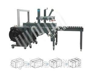 Автоматическая упаковочная линия для заклейки и обвязки коробов XFK-1, фото 2