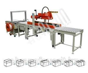 Автоматическая упаковочная линия для заклейки и обвязки коробов XFK-2, фото 2