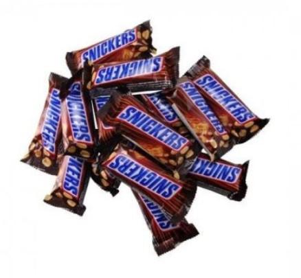 Шоколадные батончики Snickers minis (сникерс мини)  1кг