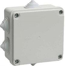 Коробка распределительная малая - 80 х 80 х 40 мм., IP55, с кабельными вводами.