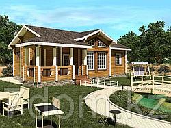 Дом из профилированного бруса 83м2