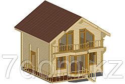Дом из профилированного бруса 92м2