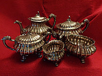 "Антикварный чайный набор серебро ""стерлинг"""