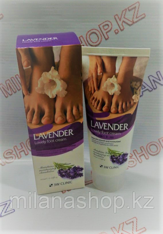 3W Clinic Lavender Lovely Foot Cream - Крем для ног