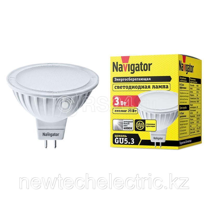 Лампа светодиодная 94 127 NLL-MR16-3-230-4K-GU5.3 3Вт 4000К бел. GU5.3 230лм 220-240В Navigator
