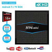 TV Box H96 MINI + 2/16 Гб,  ТВ приставка Smart TV Box Android UHD 4K Rockchip RK3318 smartbox, фото 1