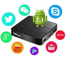 TV Box T96 Mars + 2/16 Гб, ТВ приставка Smart TV Box Android UHD 4K Rockchip RK3318 smartbox