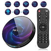 TV Box HK1 Max +4/64 Гб, ТВ приставка Smart TV Box Android UHD 4K Rockchip RK3318 smartbox