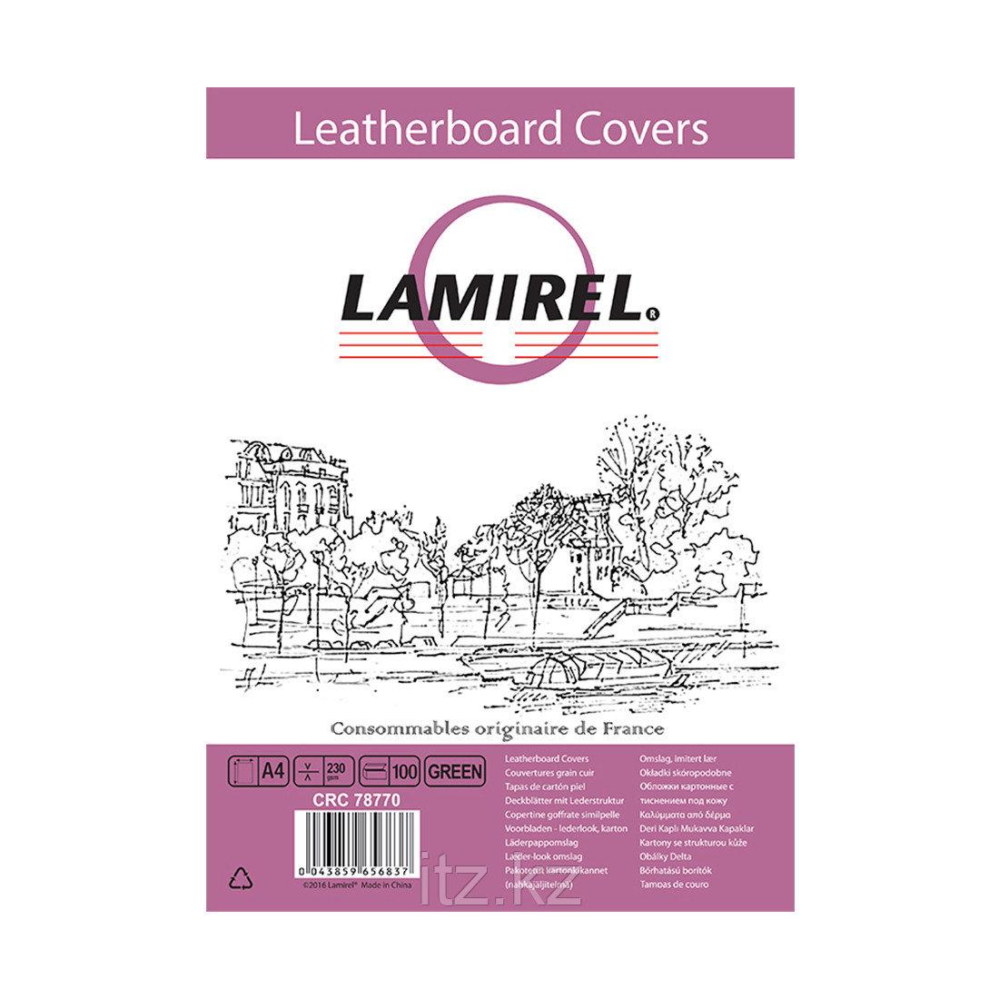 Обложки Lamirel Delta A4 LA-78770, картонные, с тиснением под кожу , цвет: зеленый, 230г/м