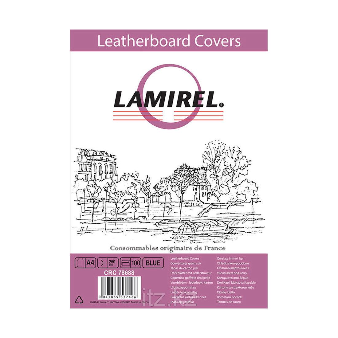 Обложки Lamirel Delta A4 LA-78688, картонные, с тиснением под кожу , цвет: синий, 230г/м