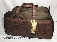Дорожная сумка-саквояж,большого размера.Высота 35 см, ширина 61 см, глубина 27 см., фото 1