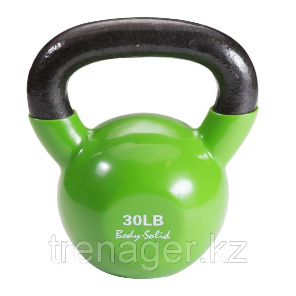 Гиря 13,6 кг (30lb) обрезиненная зеленая