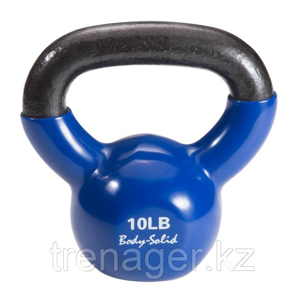 Гиря 4,5 кг (10lb) обрезиненная синяя - фото 1