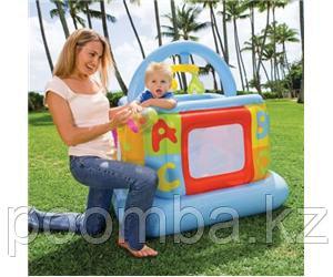 Надувной МАНЕЖ КВАДРАТНЫЙ для малышей