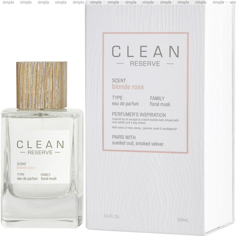 Clean Blonde Rose парфюмированная вода объем 100 мл (ОРИГИНАЛ)