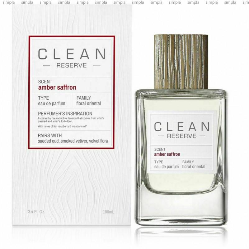 Clean Amber Saffron парфюмированная вода объем 100 мл (ОРИГИНАЛ)