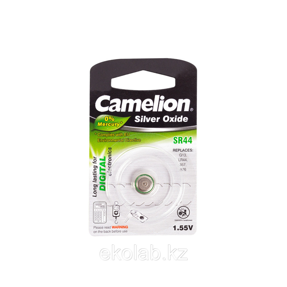 Батарейка CAMELION Silver Oxide SR44