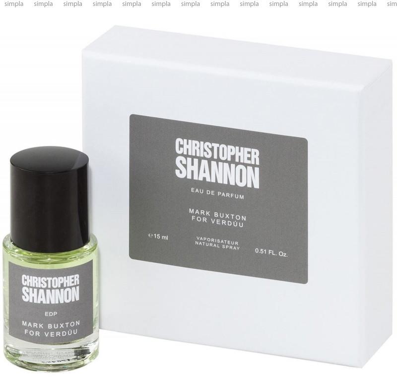 Mark Buxton Verduu Christopher Shannon парфюмированная вода объем 15 мл тестер (ОРИГИНАЛ)