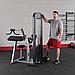Блочный тренажер бицепс-трицепс с весовым стеком 95 кг, фото 7