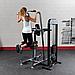 Блочный тренажер турник-брусья-отжимания с противовесом Body-Solid FCD-STK с весовым стеком 95 кг, фото 3