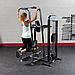 Блочный тренажер турник-брусья-отжимания с противовесом Body-Solid FCD-STK с весовым стеком 95 кг, фото 4
